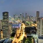 Evening city — Stock Photo
