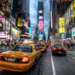 file d'attente de taxi à times square, new york — Photo