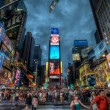 Busy Times Square at night, Manhattan, New York, USA — Stock Photo