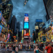 Busy Times Square at night, Manhattan, New York, USA — Stock Photo #14009880
