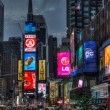Times Square in New York, busy street — Stock Photo