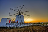 Portuguese Windmill — Stock Photo