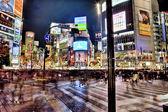 Evening street in Tokyo — Stock Photo