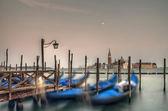 Gondoler på dockan — Stockfoto