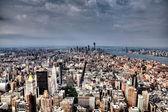 Looking down on Manhattan — Stock Photo