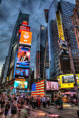 Packed Times Square, Manhattan, New York, USA — Stock Photo