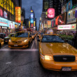 Taxi line on Times Square — Stock Photo #14010042
