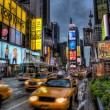 Stock Photo: Abstract taxis in Times Square