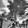 Empire State Building - New York, USA. Black and white - Stock Photo