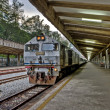 Train at railway station - Stock Photo