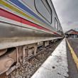 New angle: Train Journey from Singapore to Kuala Lumpur - Stock Photo