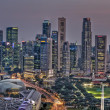Singapore Cityscape with Central Business District Panorama — Stock Photo #14010420