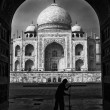Sweeper of the Taj Mahal - Stock Photo
