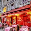 Cafe on Montmartre - Stock Photo