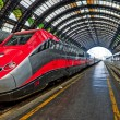 Modern high-speed train at station — Stock Photo #14017656