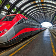 Modern high-speed train at the station — Stock Photo