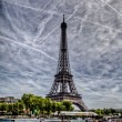 Stock Photo: Eiffel tower from Seine