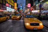 Taxi line on Times Square — Stock Photo