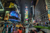 Raining in Times Square — Stock Photo