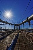 Fisheye - brooklyn bridge — Stockfoto