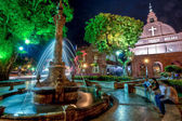A night view of Christ Church and Dutch Square in Malacca, Malaysia — Stock Photo
