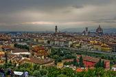 översikt över florens, italien — Stockfoto