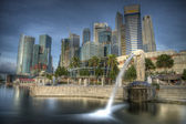 Singapore Merlion with an ND 110 Filter — Stock Photo