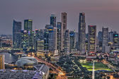 Singapore Cityscape with Central Business District Panorama — Stock Photo