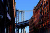 Manhattan Bridge seen from Brooklyn, New York — Stock Photo