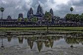 Angkor wat reflection — Stock Photo