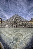 Paris - Louvre Pyramid — Stock Photo