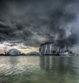 Stormy singapore — Stock Photo