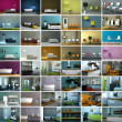 Interior Design Collage - Foto Stock
