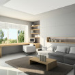 Royalty-Free Stock Photo: Modern interior. 3D render