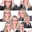 Businesswoman background — Stock Photo