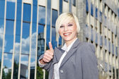 Businessman showing ok sign — Stock Photo
