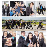 Business People Collage — Stock Photo