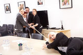 Businessmen compete in the office — Stock Photo