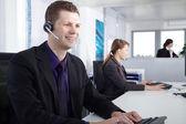 Callcenter Agent Men — Stock Photo