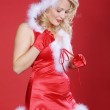 Happy Christmas blonde girl — Stock Photo #28483325
