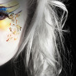Painted face blonde girl — Stock Photo