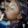 African girl lipstick — Stock Photo #28492149