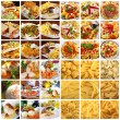 Stock Photo: Collage with different dishes and pasta