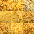 Collage of pasta — Stock Photo