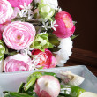 Vegetables on the background of roses — Stock Photo #28496141