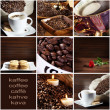 Collage with coffee — Foto de Stock