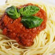 Spaghetti whit tomato sauce — Stock Photo