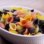 Pasta in a plastic plate — Stock Photo #28497063