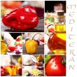 Collage of different Ingredients — Stock Photo