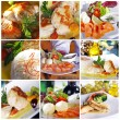 Collage of different dishes — Stockfoto